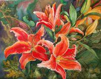 Летние цветы 30х40 1985 г просмотров 961